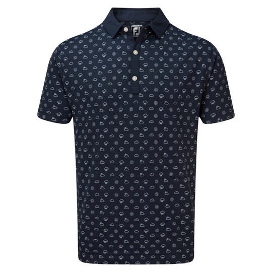 FootJoy Smooth Pique Weather Print Polo Shirt